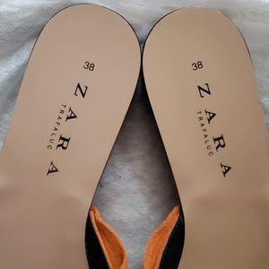 Zara Shoes - Zara Suede Slides with Bow
